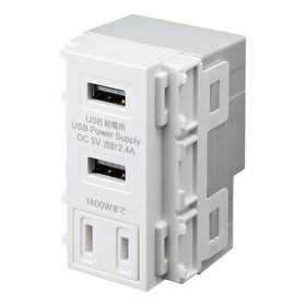 AC付き埋込USB給電用コンセント [TAP-KJUSB2AC1W] (TAP-KJUSB2AC1W)