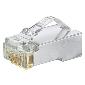 Pan-Plug 【平日15時まで当日発送】シールド付モジュラープラグ カテゴリ5E(100個入) (MPS588-C)