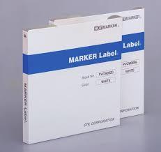 マーカーラベル (デバイスラベル) 白/短片タイプ (6X23mm)