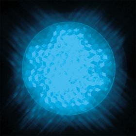 LEDサイン球 口金:E17 色:青
