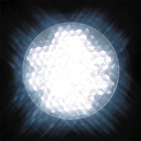 LEDサイン球 口金:E17 色:白