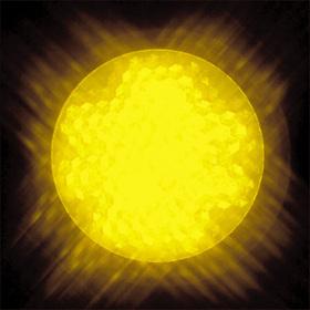 LEDサイン球 口金:E17 色:黄