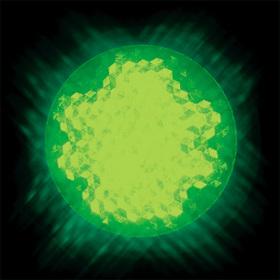 LEDサイン球 口金:E26 色:緑