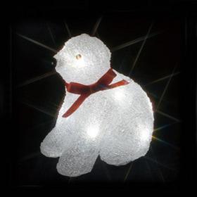 LEDクリスタルモチーフ(電池式) 白クマ(小)B