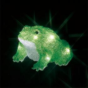 LEDクリスタルモチーフ(電池式) カエル(大)