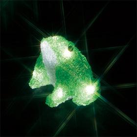 LEDクリスタルモチーフ(電池式) カエル(小)