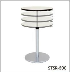 ワークテーブル回転天板昇降タイプ サイズ:H705mm~1005mm×径600mm