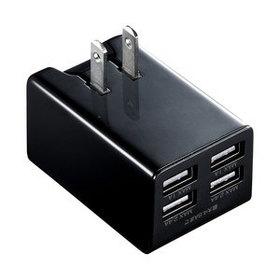 USB充電器 ブラック