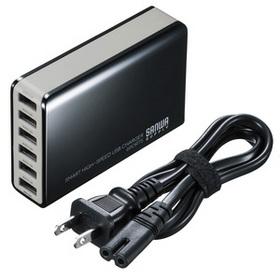 6ポートUSB充電器 ブラック