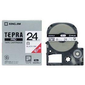 「テプラ」PROテープカートリッジ 白ラベル ロングタイプ 黒文字 24mm幅 (SS24KL)