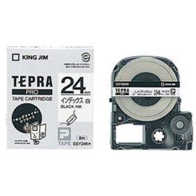 「テプラ」PROテープカートリッジ インデックスラベル 白ラベル 黒文字 24mm幅 (SSY24K)