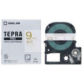 「テプラ」PROテープカートリッジ 透明ラベル 金文字 9mm幅 (ST9Z)