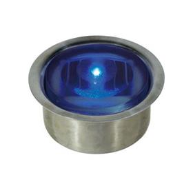 ソーラーLEDシリンダー50【点灯】 GF-OB-SUS ソーラーLEDシリンダー50【点灯】ステンレスケース付 青
