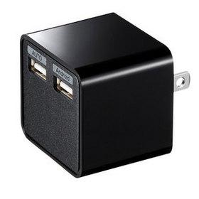 USB充電器 (2ポート・合計3.4A・ブラック)