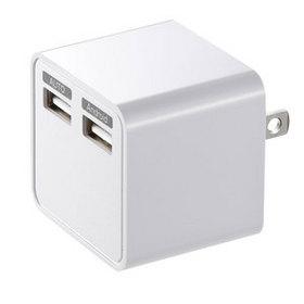 USB充電器 (2ポート・合計3.4A・ホワイト)