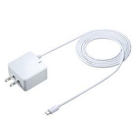 QuickCharge2.0対応AC充電器 (microUSBケーブル一体型・ホワイト)
