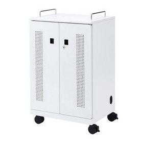 【メーカー直送品・代引不可】 タブレット収納キャビネット (40台収納)
