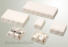 露出型情報コンセント(Cat5e) 防塵自動シャッター付 SB2SC5E-WHT (白/1個入)