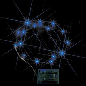 LEDミニストリングライト(電池式) 青