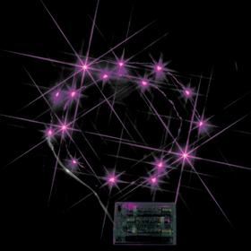 LEDミニストリングライト(電池式) ピンク