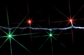LEDルミネーション(連結タイプ) LEDストリング 10m 赤・緑