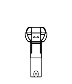 ランプチェンジャーキャッチヘッド φ45~50(ボールランプ・クリプトンランプ用)