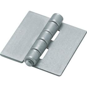 D金物 スチール製特厚溶接蝶番 全長76mm (4個入)【2335891】