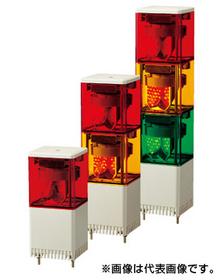 キュービックタワーLED小型積層回転灯 【通常2~3日で出荷】KES-102-R (DC24V/赤/1段式)